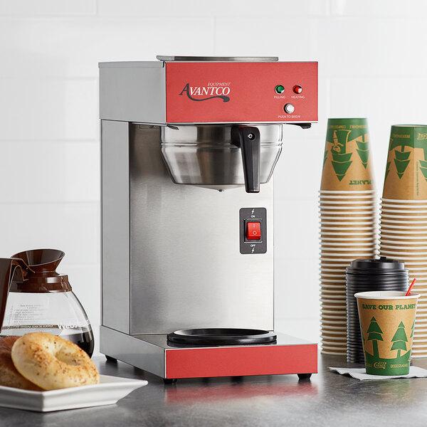 Avantco CMA1B Automatic Coffee Maker with Lower Decanter Warmer - 120V, 1550W Main Image 5