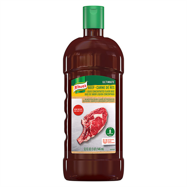 Knorr 32 oz. Ultimate Liquid Concentrated Beef Base - 4/Case