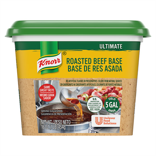 Knorr 1 lb. Ultimate Beef Bouillon Base - 6/Case