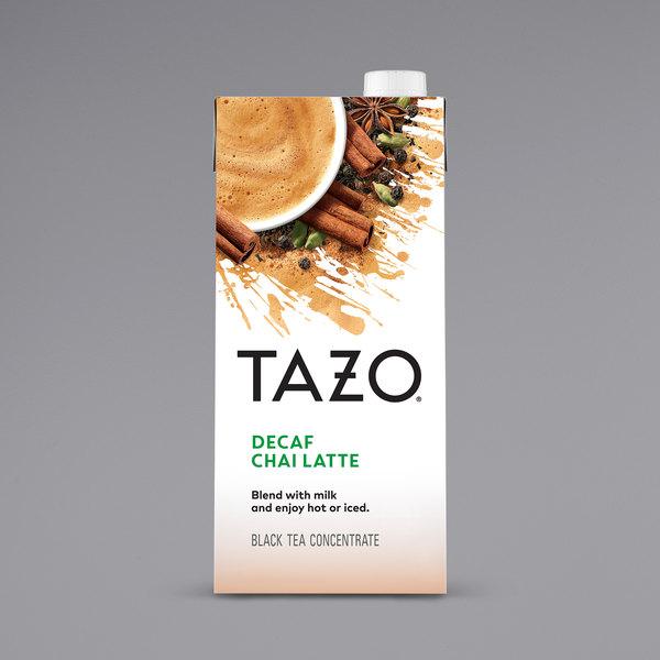 Tazo 32 oz. Decaf Chai Tea Latte 1:1 Concentrate