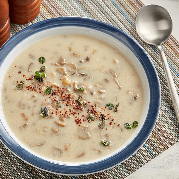 Knorr 19.6 oz. Soup du Jour Cream of Mushroom Soup Mix - 4/Case Main Image 2