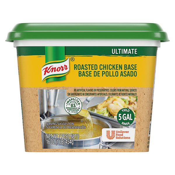 Knorr 1 lb. Ultimate Chicken Bouillon Base - 6/Case