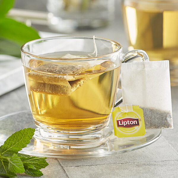 Lipton Mint Herbal Tea Bags - 28/Box Main Image 3