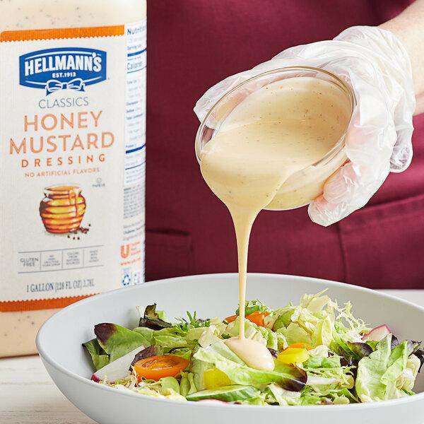 Hellmann's 1 Gallon Honey Mustard Dressing - 4/Case Main Image 2