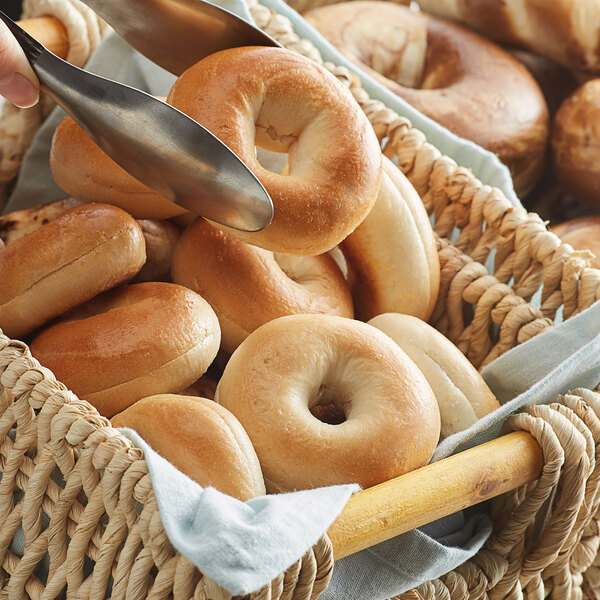 Original Bagel 1.3 oz. New York Style Plain Mini Bagel - 144/Case Main Image 2