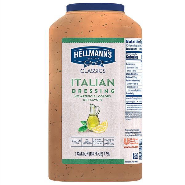 Hellmann's 1 Gallon Italian Dressing - 4/Case