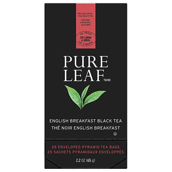 Pure Leaf English Breakfast Pyramid Tea Sachets - 25/Box