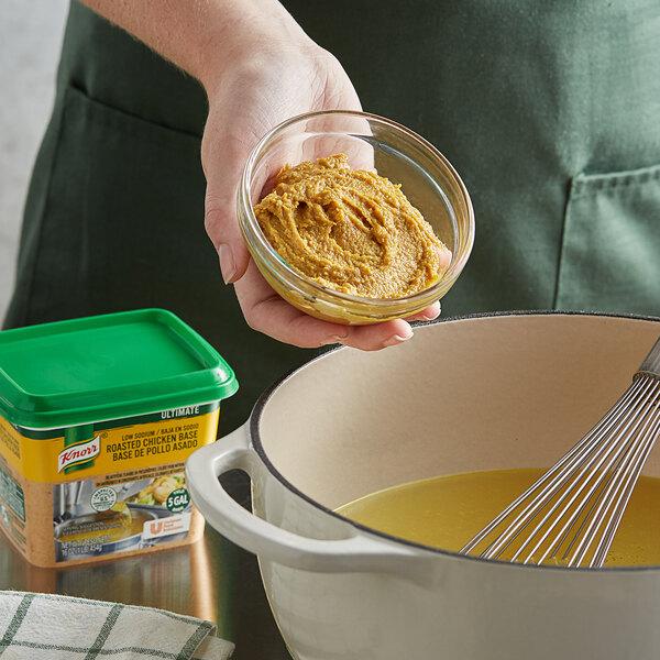 Knorr 1 lb. Ultimate Low Sodium Chicken Bouillon Base - 6/Case Main Image 2
