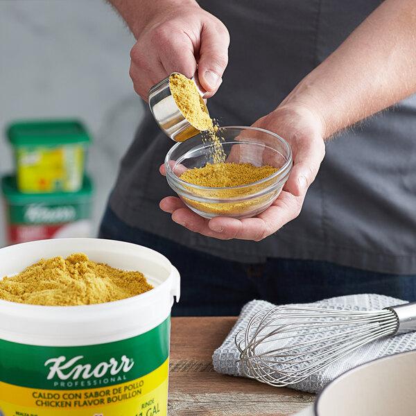 Knorr 4.4 lb. Caldo de Pollo / Chicken Bouillon Base - 4/Case Main Image 2