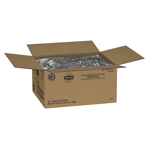 Lipton 3 Gallon Tropical Black Iced Tea Filter Bags - 24/Case