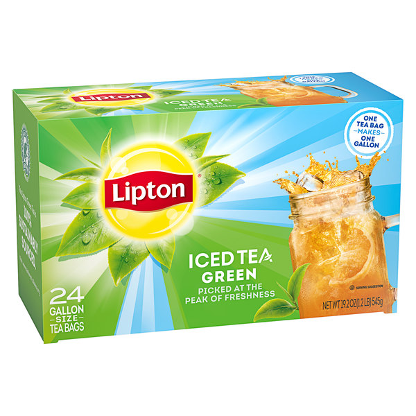 Lipton 24-Count Pack 1 Gallon Green Iced Tea Filter Bags - 2/Case