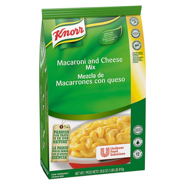 Knorr 28.8 oz. Macaroni and Cheese Mix - 4/Case
