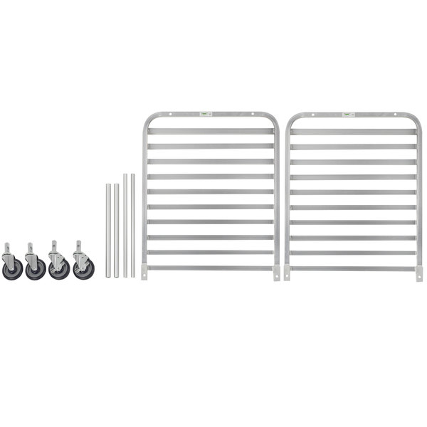 Regency 10 Pan End Load Half Height Bun / Sheet Pan Rack - Unassembled
