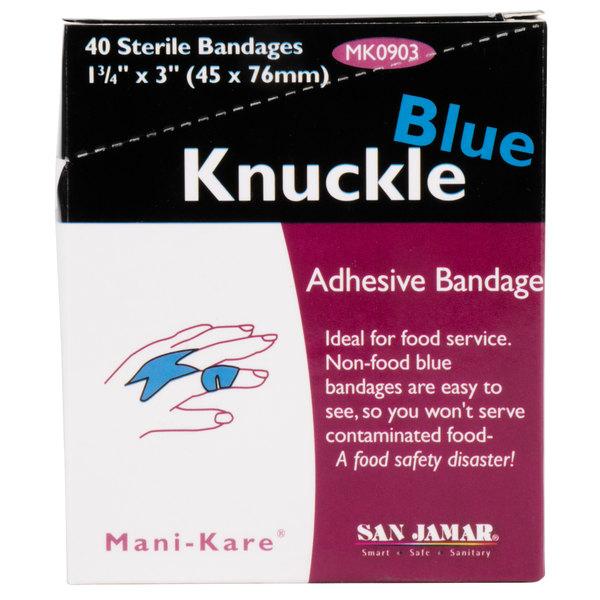 San Jamar MK0903 Mani-Kare Knuckle Bandage - 40/Box