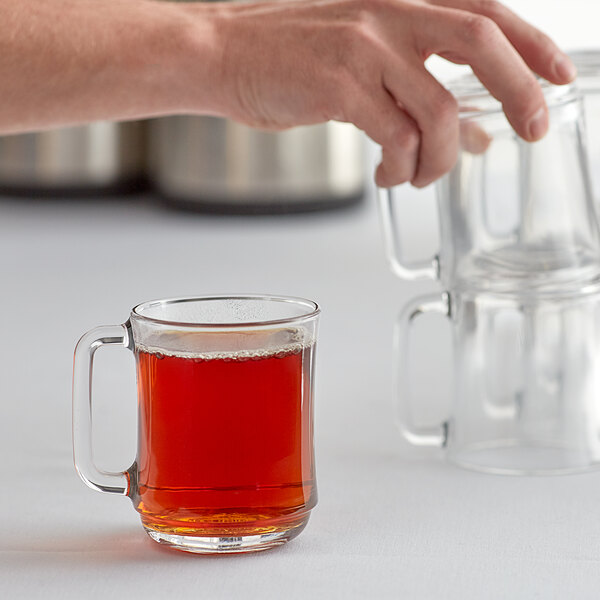 Duralex 4018AR06 Empliable 10.875 oz. Stackable Glass Coffee Mug - 6/Pack Main Image 2