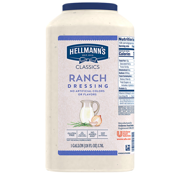 Hellmann's 1 Gallon Creamy Ranch Dressing