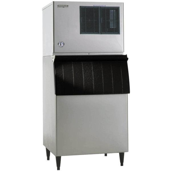 "Hoshizaki KML-700MAJ Low Profile 30"" Air Cooled Crescent Cube Ice Machine with Galvanized Finish Ice Storage Bin - 658 lb. Per Day, 500 lb. Storage Main Image 1"