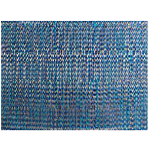 """Front of the House XPM119BLV83 Metroweave 16"""" x 12"""" Blues Rush Woven Vinyl Rectangle Placemat - 12/Pack Main Image 1"""