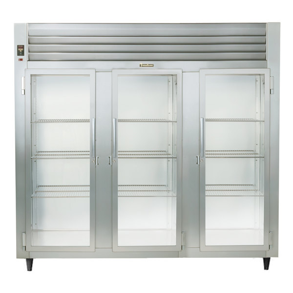 Traulsen Stainless Steel RHF332WP-FHG Glass Door Three Section Reach In Pass-Through Heated Holding Cabinet - Specification Line