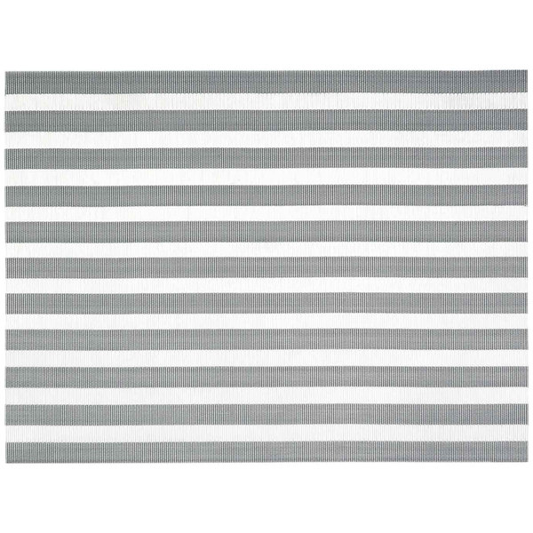 "Front of the House XPM111SIV83 Metroweave 16"" x 12"" Silver Nautical Woven Vinyl Rectangle Placemat - 12/Pack Main Image 1"