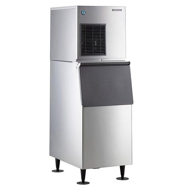 "Hoshizaki F-450MAJ Slim Line 22"" Air Cooled Flake Ice Machine with Stainless Steel Finish Ice Storage Bin - 492 lb. Per Day, 300 lb. Storage Main Image 1"