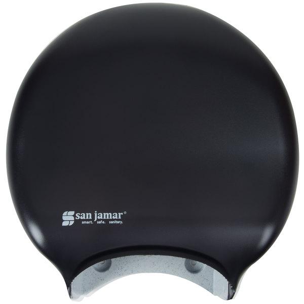 San Jamar R2000TBK Classic 9 inch Single Roll Jumbo Toilet Tissue Dispenser - Black Pearl