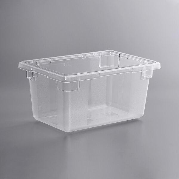 Vigor 18 inch x 12 inch x 9 inch Clear Polycarbonate Food Storage Box