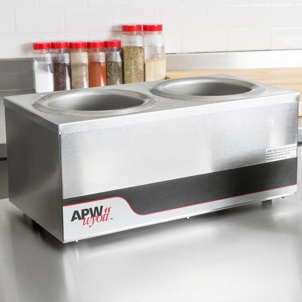 APW Wyott W4-2 Dual 4 Qt. Countertop Warmer Main Image 7