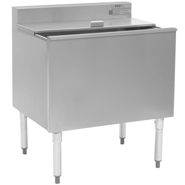 """Eagle Group B30IC-16D-18-7 1800 Series 30"""" Ice Chest with Post-Mix Cold Plate - 163 lb. Capacity"""