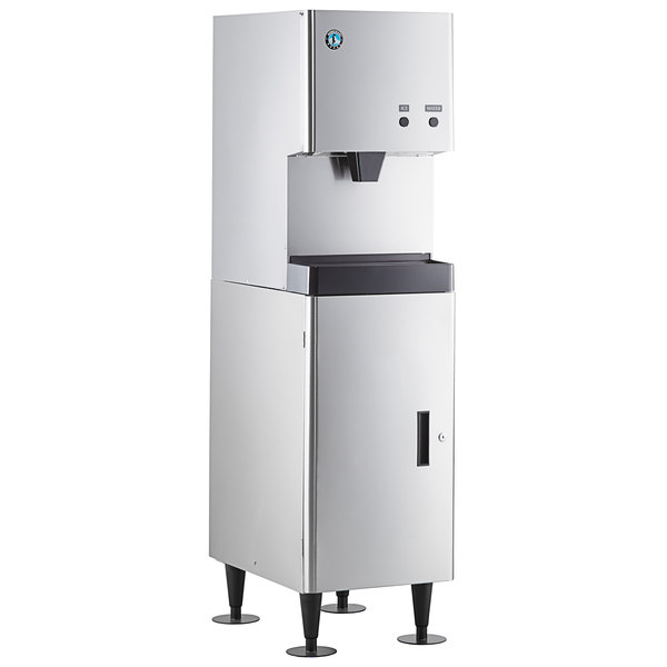 Hoshizaki DCM-270BAH Cubelet Ice Maker and Water Dispenser with Floor Stand - 282 lb. Per Day, 10 lb. Storage Main Image 1