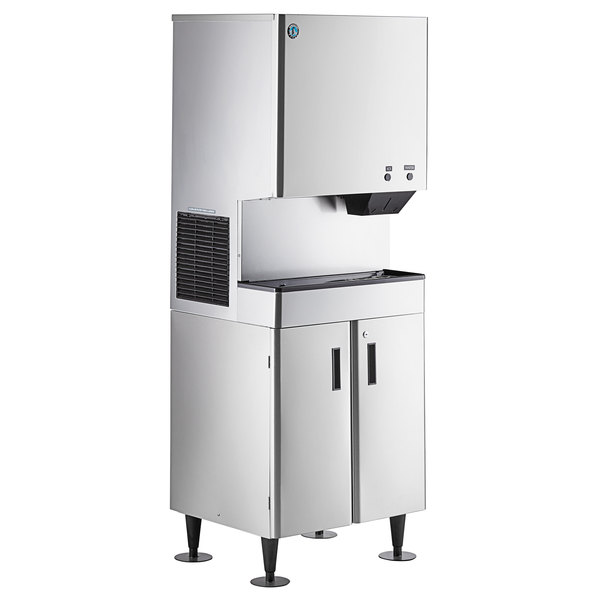 Hoshizaki Dcm 300bah Cubelet Ice Maker And Water Dispenser With Floor Stand 321 Lb Per Day 40 Lb Storage