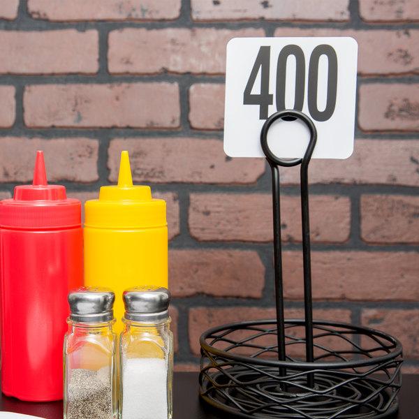 American Metalcraft 4400 Plastic Table Number Set - Numbers 351 - 400