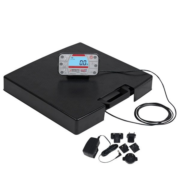 Cardinal Detecto APEX-RI-AC 600 lb. Portable Digital Clinical Scale with Remote Indicator and AC Adapter Main Image 1