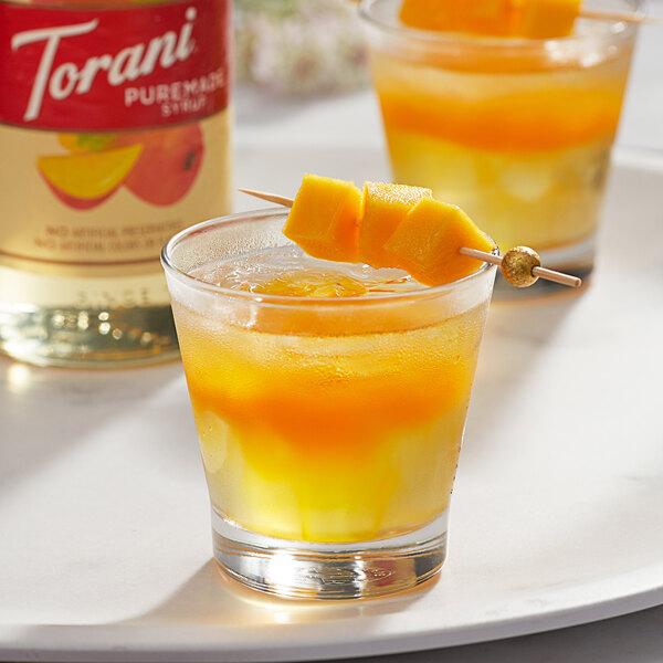 Torani 750 mL Puremade Mango Flavoring Syrup Main Image 2