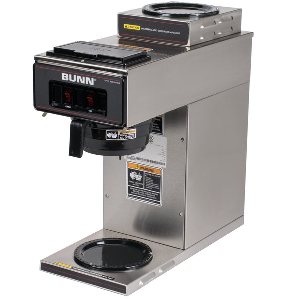 Bunn 13300 0002 Vp17 2 Ss Low Profile Pourover Coffee Brewer With Warmers