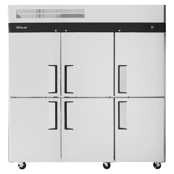 """Turbo Air M3R72-6-N M3 Series 78"""" Solid Half Door Reach In Refrigerator Main Image 1"""