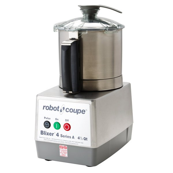 Robot Coupe Blixer 4 Food Processor with 4.5 Qt. Stainless Steel Bowl and Single Speed - 1 1/2 hp