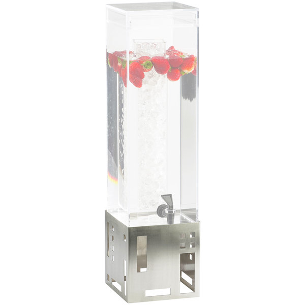Cal-Mil C1602-BASE-55 Square Stainless Steel Replacement Base for 1.5 and 3 Gallon Beverage Dispensers