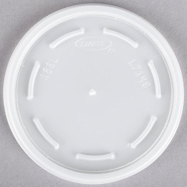 Dart 16JL 16 oz. Translucent Vented Lid - 1000/Case