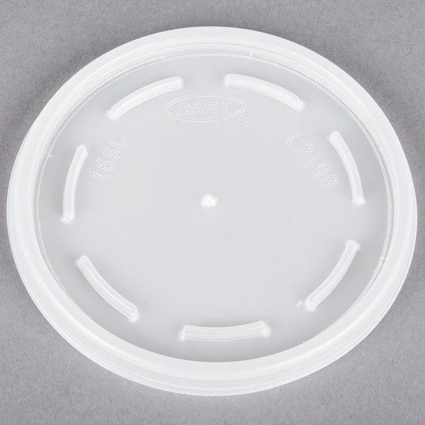 Dart 16JL Translucent Vented Lid - 1000/Case Main Image 1