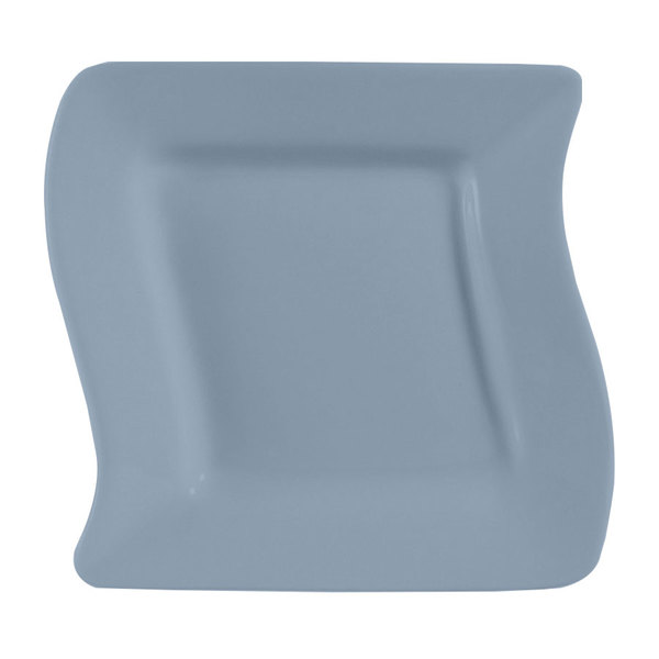 "CAC SOH-21LB Color Soho 12"" Light Blue Square Stoneware Plate - 12/Case"