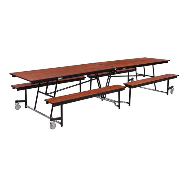 National Public Seating MTFB10-PWPEPC 10 Foot Mobile Cafeteria Table with Plywood Core Main Image 1