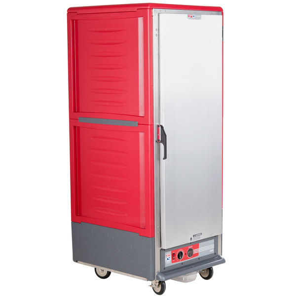 Metro C539-HFS-L C5 3 Series Heated Holding Cabinet with Solid Door - Red