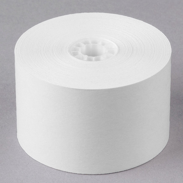 """44 mm (1 23/32"""") x 150' Traditional Cash Register POS Paper Roll Tape - 100/Case"""