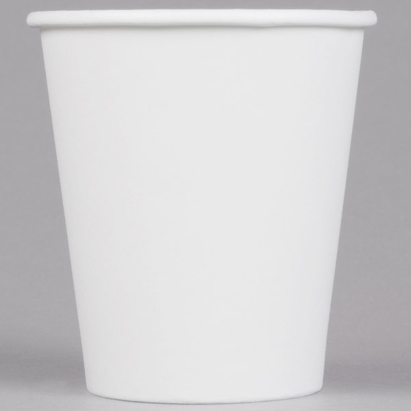 Choice 10 oz. White Poly Paper Hot Cup - 1000 / Case