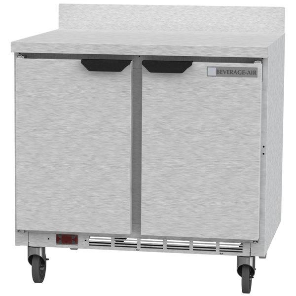 "Beverage-Air WTR36AHC 36"" Two Door Worktop Refrigerator Main Image 1"