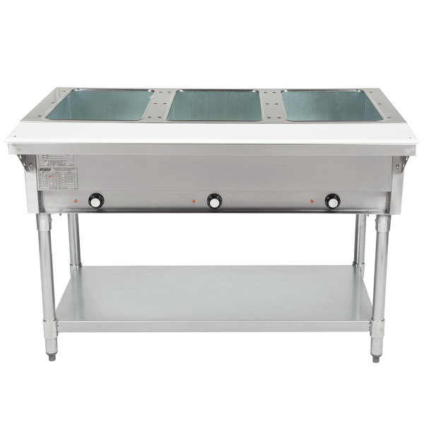 Eagle Group DHT3 Open Well Three Pan Electric Hot Food Table - 240V