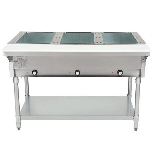 Eagle Group DHT3 Open Well Three Pan Electric Hot Food Table - 240V Main Image 1
