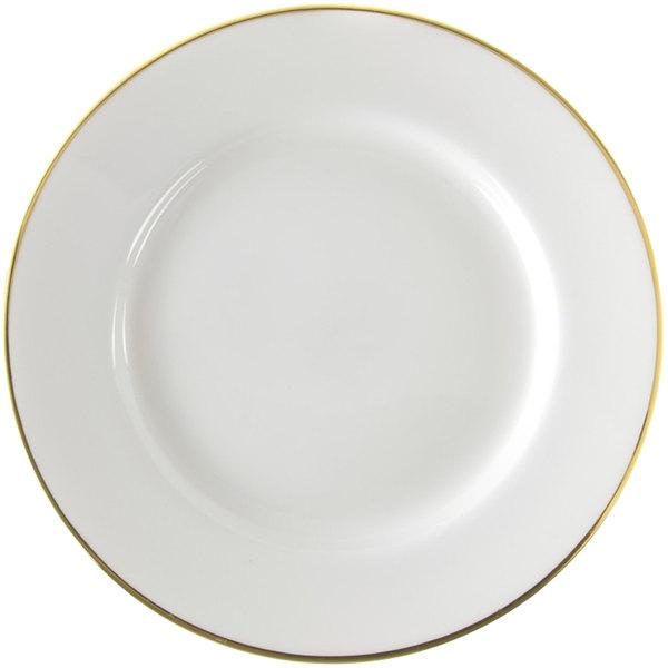 "10 Strawberry Street GL0001 10 3/4"" Gold Line Plate - 24/Case"