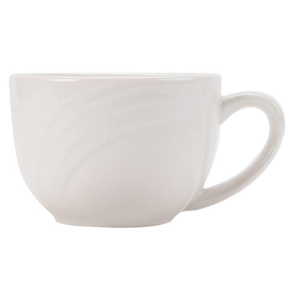 CAC GAD-54 Garden State 3.5 oz. Bone White Porcelain Coffee Cup - 36/Case